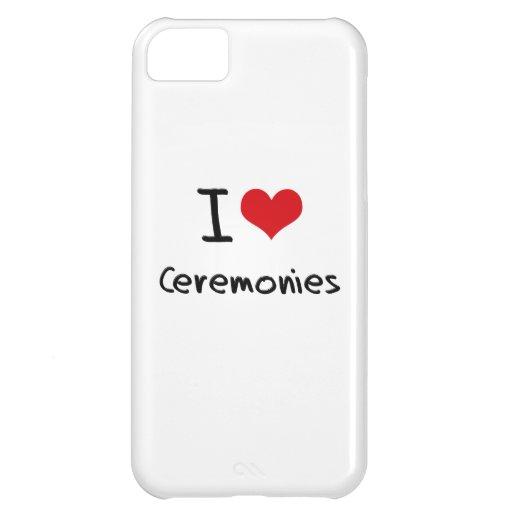 Eu amo cerimónias capa iphone5C