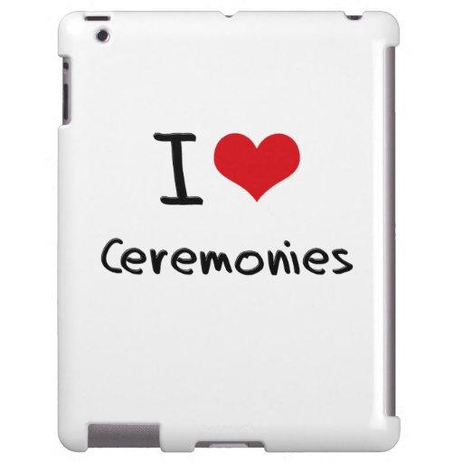 Eu amo cerimónias