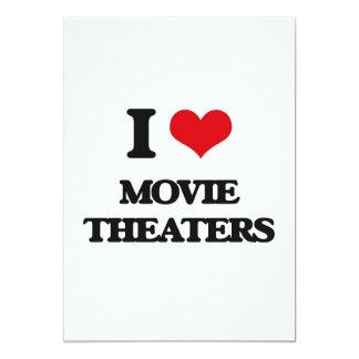 Eu amo cinemas convite 12.7 x 17.78cm