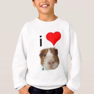 Eu amo cobaias por tão sibilante t-shirts