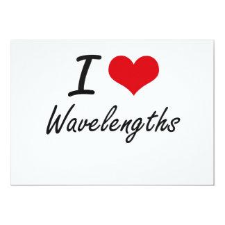 Eu amo comprimentos de onda convite 12.7 x 17.78cm