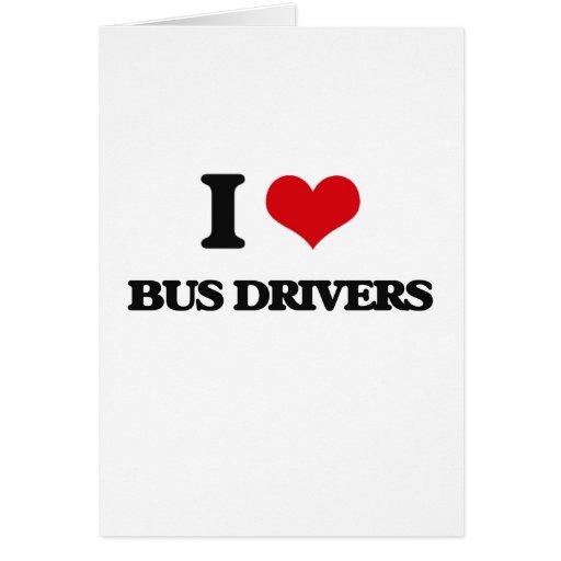 Eu amo condutores de autocarro cartões