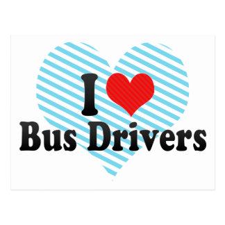 Eu amo condutores de autocarro cartão postal