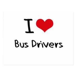 Eu amo condutores de autocarro cartao postal