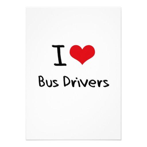 Eu amo condutores de autocarro convite