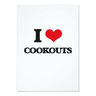 Eu amo Cookouts Convites Personalizados