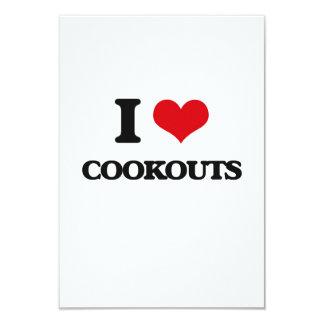 Eu amo Cookouts Convites