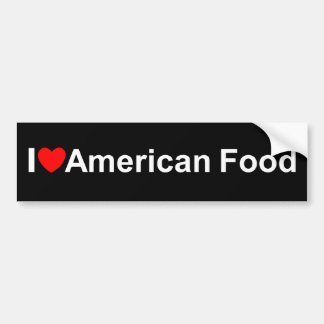 Eu amo (coração) a comida americana adesivo para carro