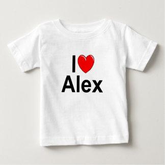 Eu amo (coração) Alex T-shirts