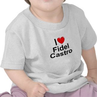 Eu amo (coração) Fidel Castro Camiseta