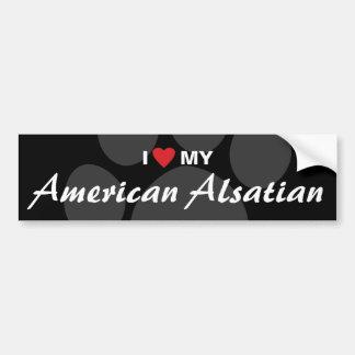 Eu amo (coração) meu Alsatian americano Adesivo Para Carro