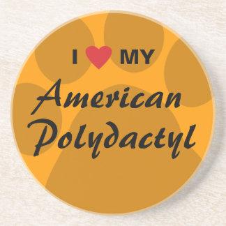Eu amo (coração) meu americano Polydactyl Porta Copo Para Bebidas