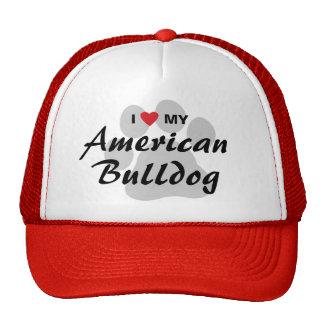 Eu amo (coração) meu buldogue americano bones