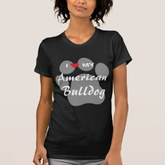 Eu amo (coração) meu buldogue americano camiseta
