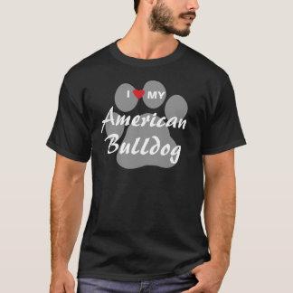 Eu amo (coração) meu buldogue americano t-shirts