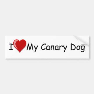 Eu amo (coração) meu cão amarelo adesivo para carro