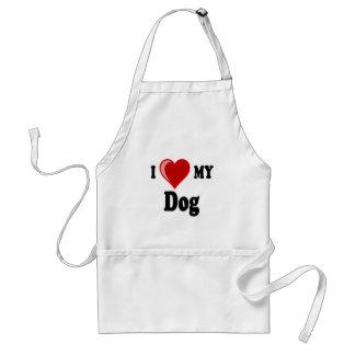 Eu amo (coração) meu cão avental