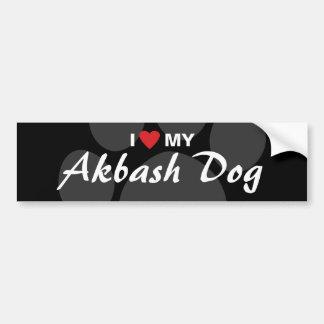 Eu amo (coração) meu cão de Akbash Adesivo Para Carro