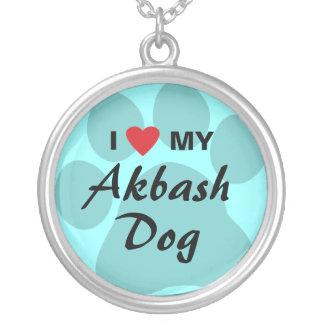 Eu amo (coração) meu cão de Akbash Pingente