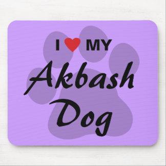 Eu amo (coração) meu cão de Akbash Mousepad