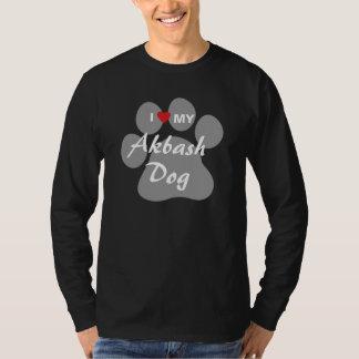 Eu amo (coração) meu cão de Akbash Tshirts