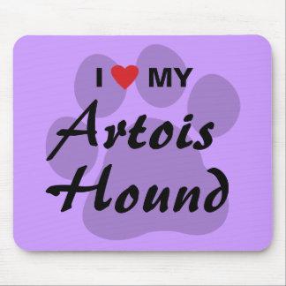 Eu amo (coração) meu cão de Artois Mousepad
