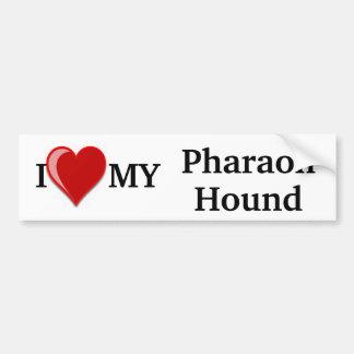 Eu amo (coração) meu cão de cão do faraó adesivo para carro