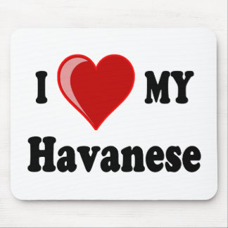 Eu amo (coração) meu cão de Havanese Mouse Pad