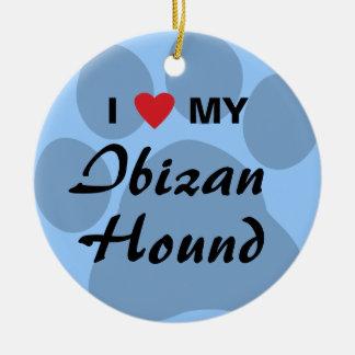 Eu amo (coração) meu cão de Ibizan Enfeite De Natal