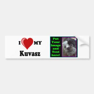 Eu amo (coração) meu cão de Kuvasz Adesivo Para Carro
