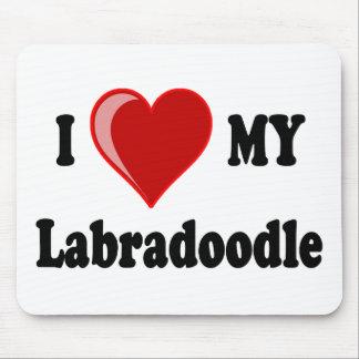 Eu amo (coração) meu cão de Labradoodle Mouse Pad