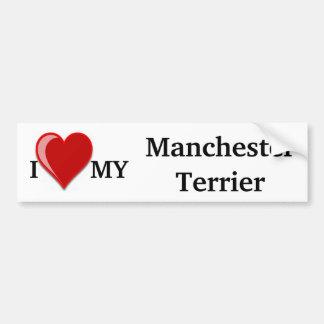 Eu amo (coração) meu cão de Manchester Adesivo Para Carro
