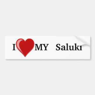 Eu amo (coração) meu cão de Saluki Adesivo Para Carro
