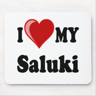 Eu amo (coração) meu cão de Saluki Mousepad