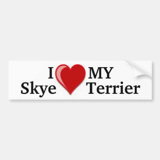 Eu amo (coração) meu cão de Skye Terrier Adesivo Para Carro