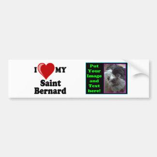 Eu amo (coração) meu cão de St Bernard Adesivo Para Carro