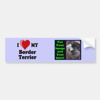 Eu amo (coração) meu cão de Terrier de beira Adesivo Para Carro