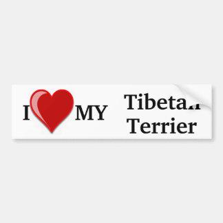 Eu amo (coração) meu cão de Terrier tibetano Adesivo Para Carro