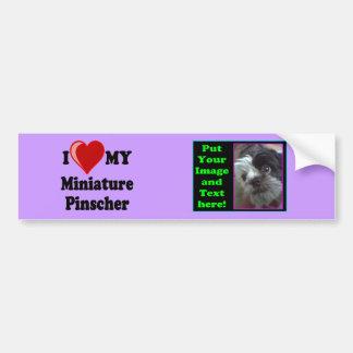Eu amo (coração) meu cão do Pinscher diminuto Adesivo Para Carro