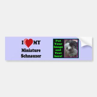 Eu amo (coração) meu cão do Schnauzer diminuto Adesivo Para Carro