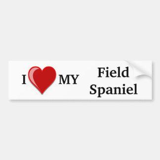 Eu amo (coração) meu cão do Spaniel de campo Adesivo Para Carro