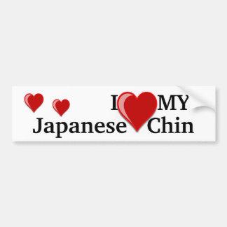 Eu amo (coração) meu cão japonês de Chin Adesivo Para Carro