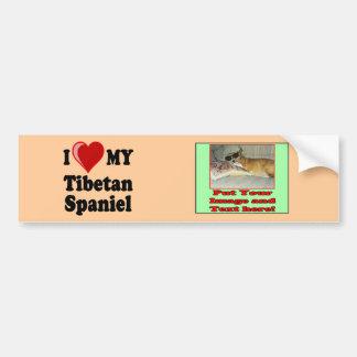 Eu amo (coração) meu cão tibetano do Spaniel Adesivo Para Carro