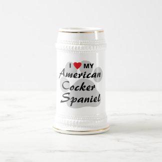 Eu amo (coração) meu cocker spaniel americano canecas