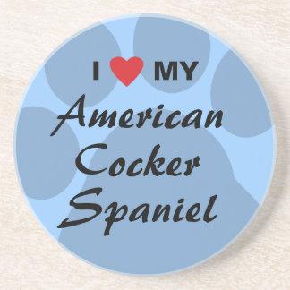Eu amo (coração) meu cocker spaniel americano porta-copo