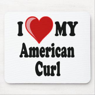 Eu amo (coração) meu gato americano da onda mouse pad