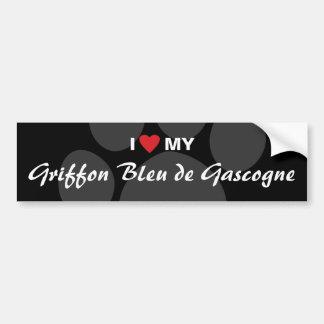 Eu amo (coração) meu Griffon Azul de Gascogne Adesivo Para Carro