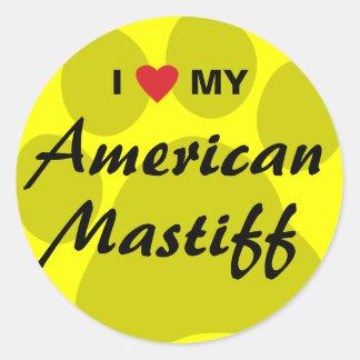 Eu amo (coração) meu Mastiff americano Adesivo