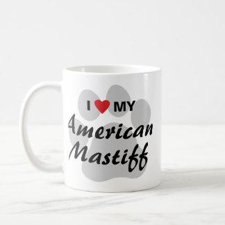 Eu amo (coração) meu Mastiff americano Canecas