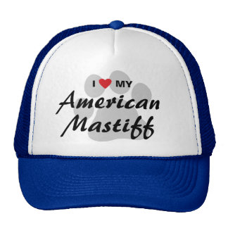 Eu amo (coração) meu Mastiff americano Bonés